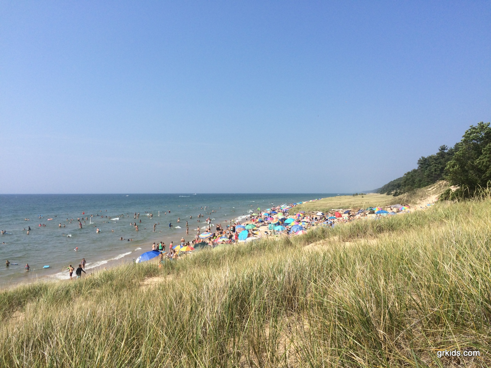 Lake Michigan beaches: hoffmaster state park