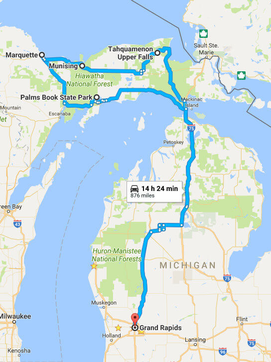 Upper Peninsula Road Trip with Kids