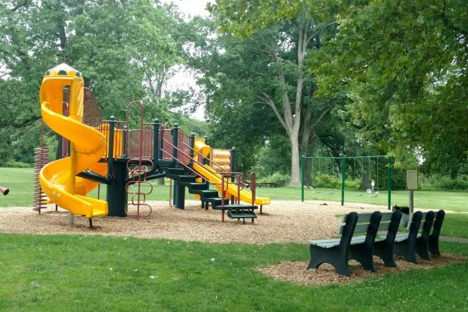 Johnson Park yellow Play Structure Ward