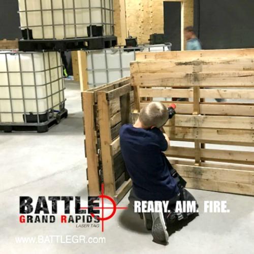 Battle GR boy playing laser tag