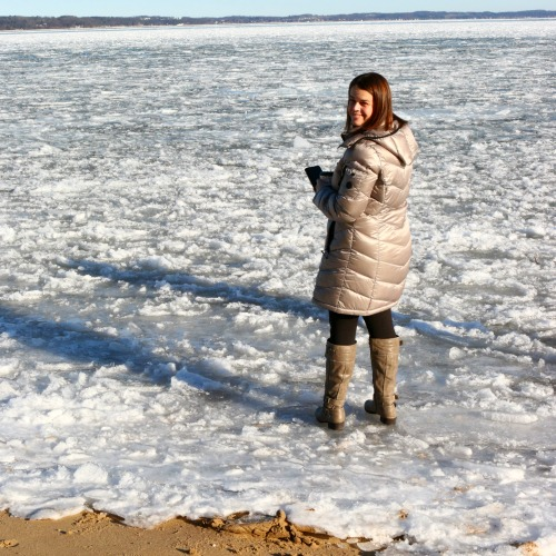 Traverse City woman on ice