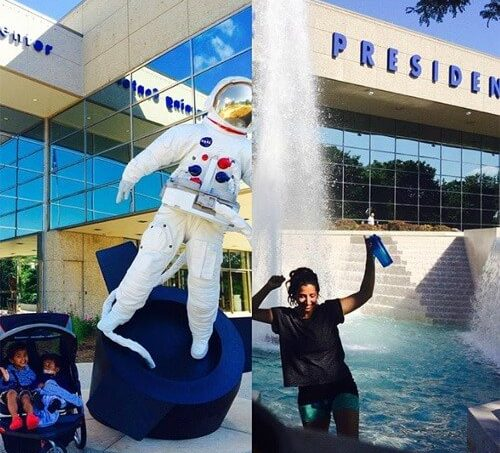 Favorite West Michigan INstagram Spots Spaceman and Fountain at Gerald R Ford Museum 1