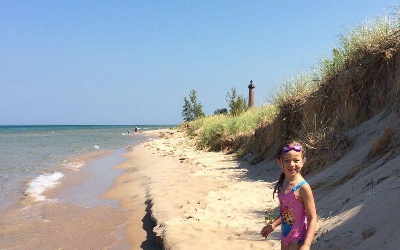 silver lake sand dunes beach lake michigan