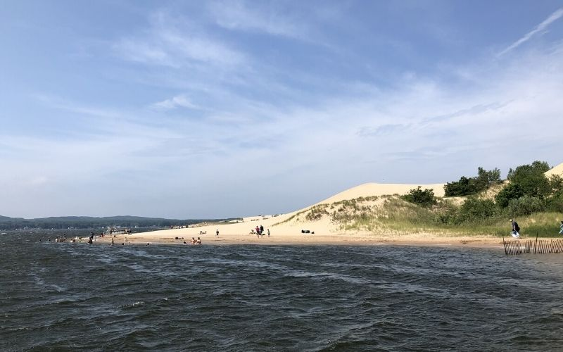 silver lake sand dunes beach swimming