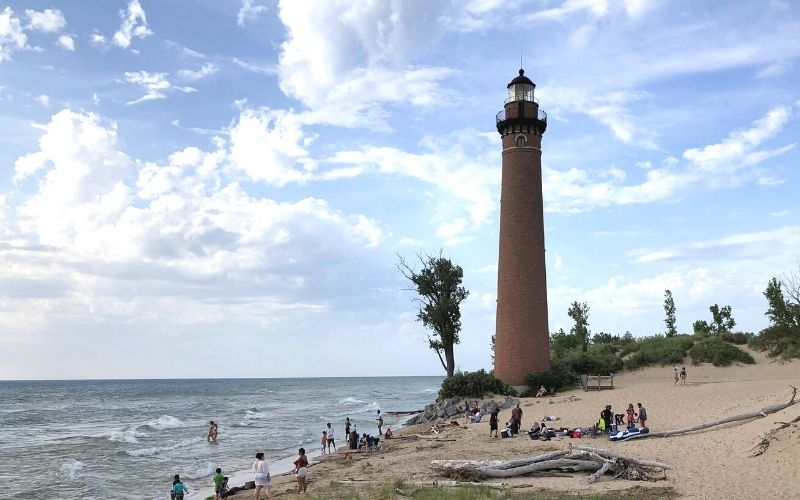 silver lake state park little sable point lighthouse beach
