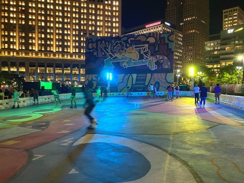 Midway Roller Skating in Downtown Detroit