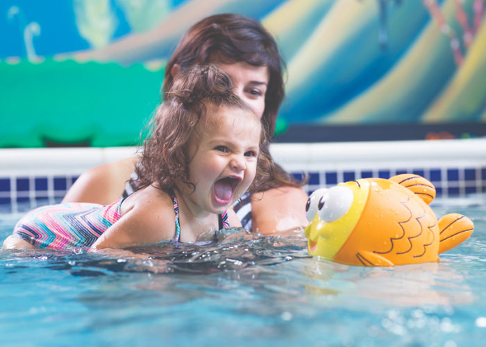 Goldfish Swim School Grand Rapids feature image girl swim lessons