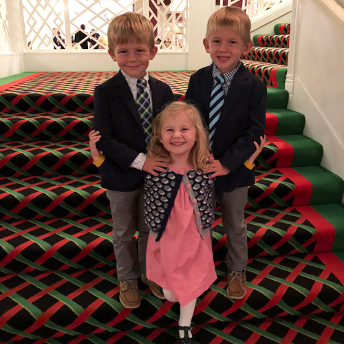 Mackinac Island Grand Hotel kids on stairs