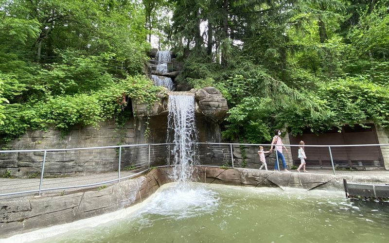 John Ball Zoo waterfall wide Vander