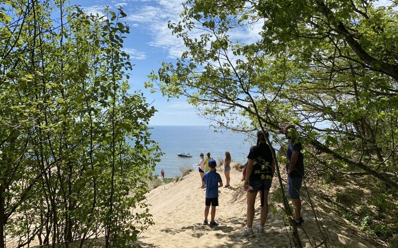 lake michigan saugatuck dunes state park