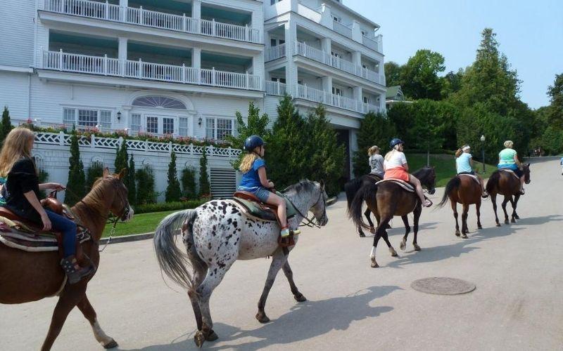 mackinac island things to do horseback riding