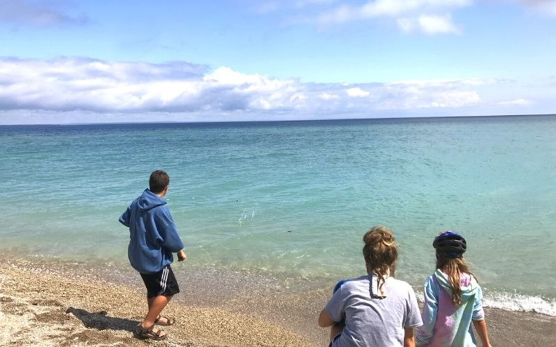 mackinac island rock skipping