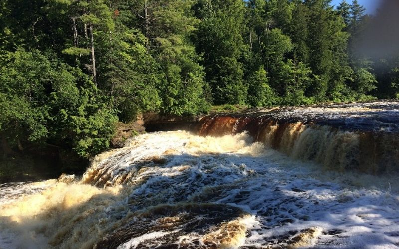 best camping in michigan - Tahquamenon Falls State Park, Paradise