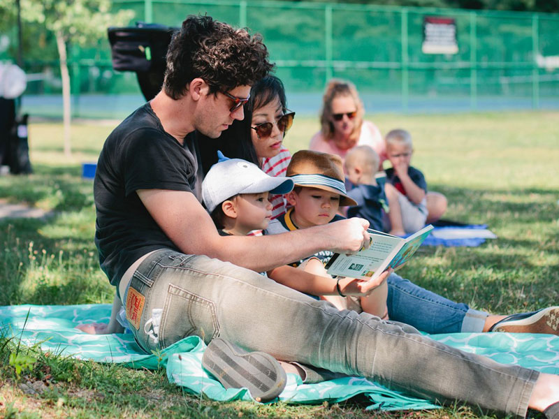 GRPL library storytime in the park