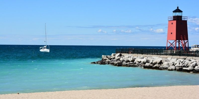 Michigan Beach Park Charlevoix - Michigan best beaches for kids
