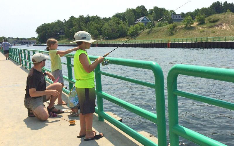 free summer activities in GR include fishing at a local river or lake