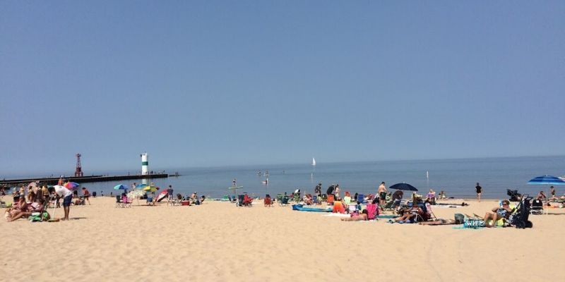 pentwater charles mears Michigan best beaches for kids
