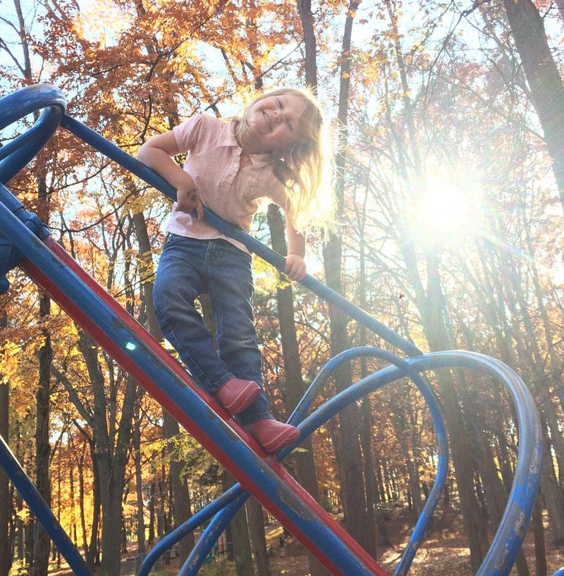 Jaycee Park Kentwood girl on playground Shaffer