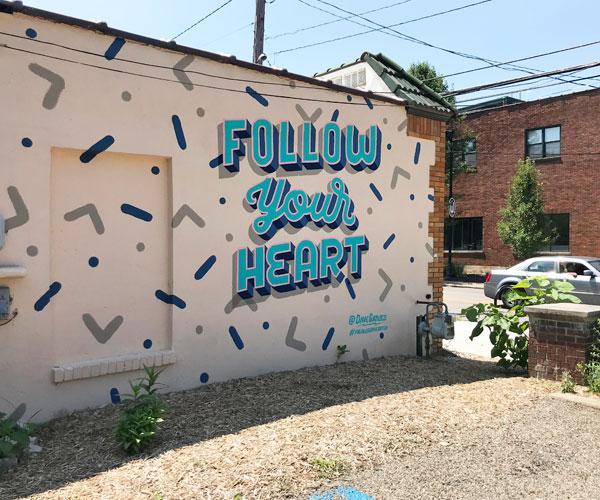Follow Your Heart Mural Baatjes
