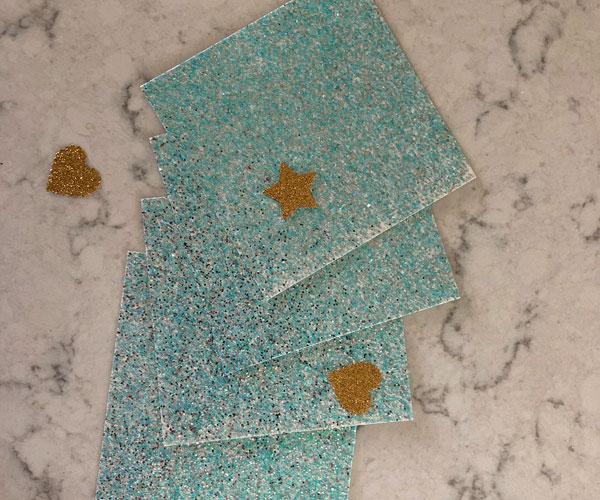 craft hacks glitter paper