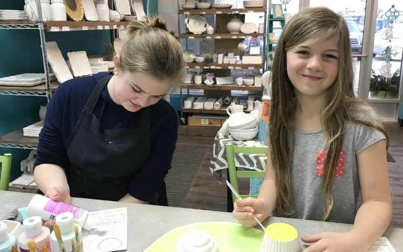 grand rapids summer activities - paint pottery at the Mud Room
