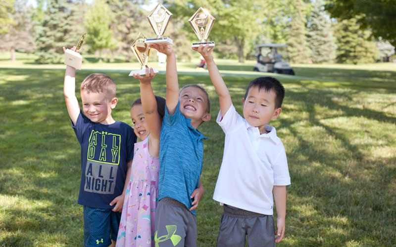 Maple Hill Golf lessons tournament trophies