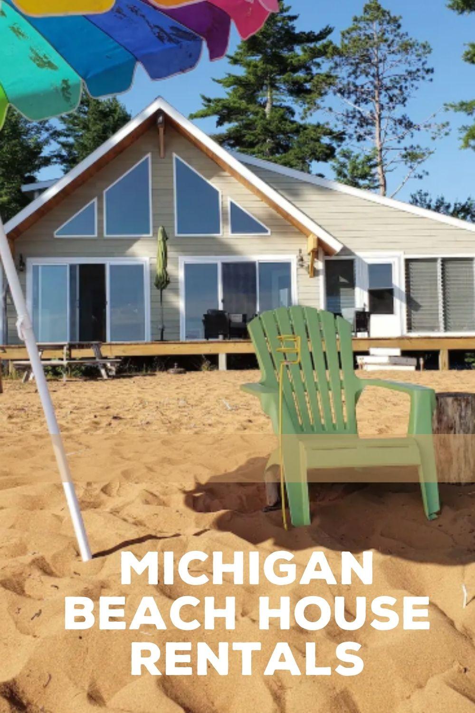 Michigan Beach Rental pinterest image