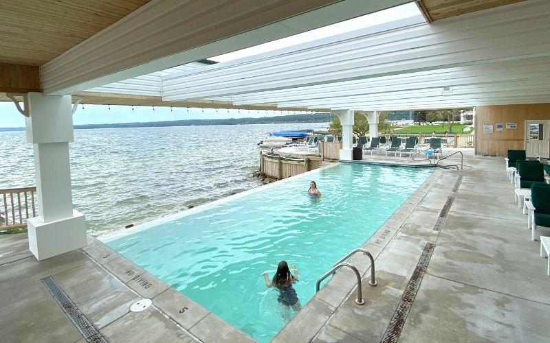 portage point resort infinity pool