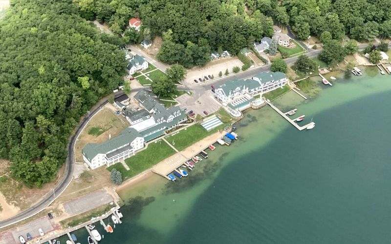 portage point resort sky view