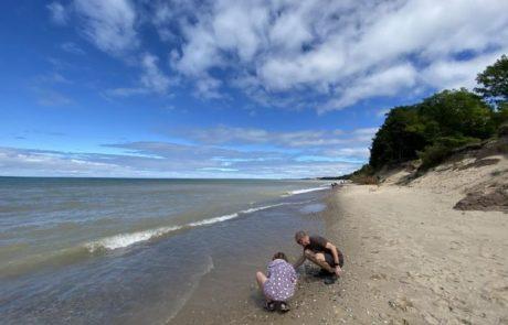 rockhounding beach lake michigan magoon creek manistee