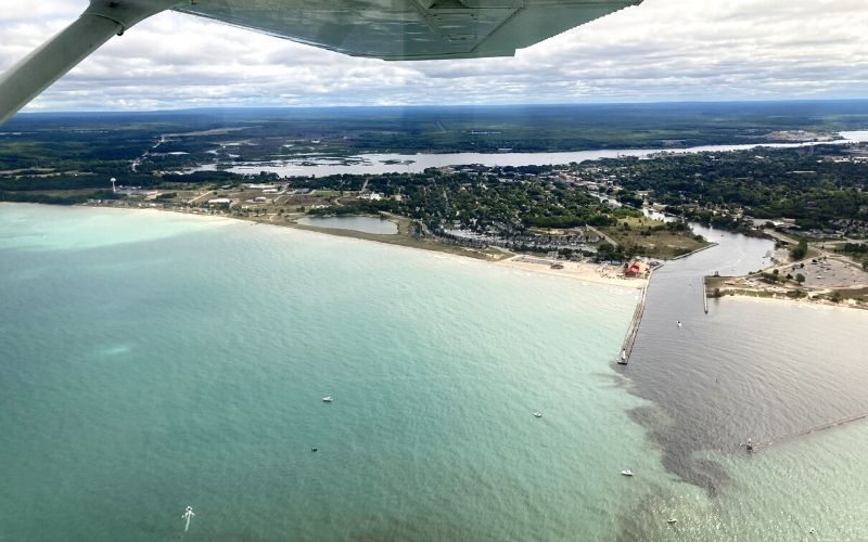 scenic airplane tour manistee