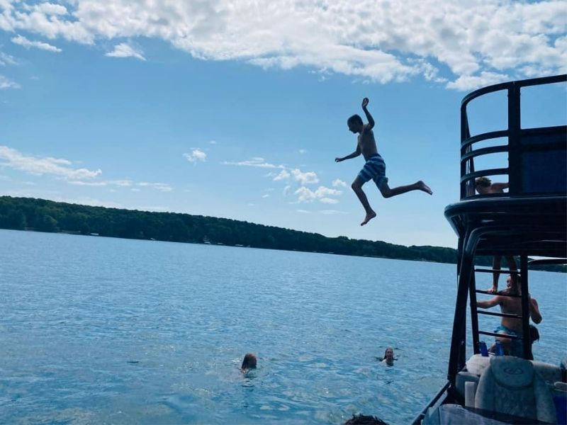 Torch Lake swimming