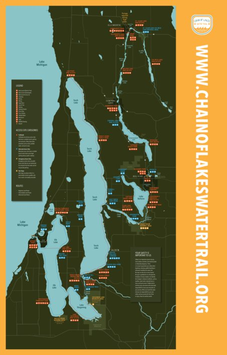 chain of lakes water trail map
