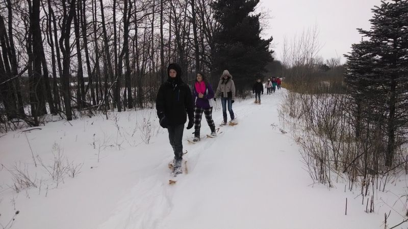 outdoor discovery center snowshoe