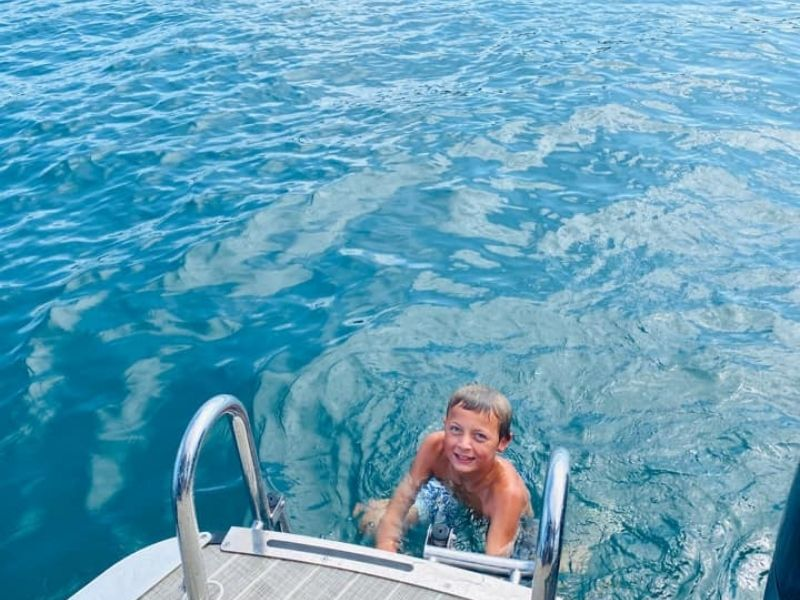 swimming torch lake