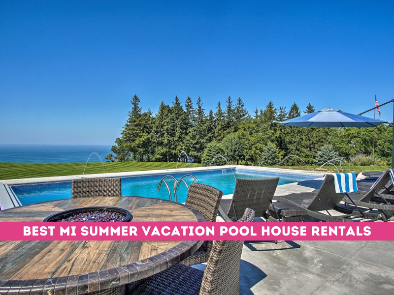 vacation rental house with pool in michigan