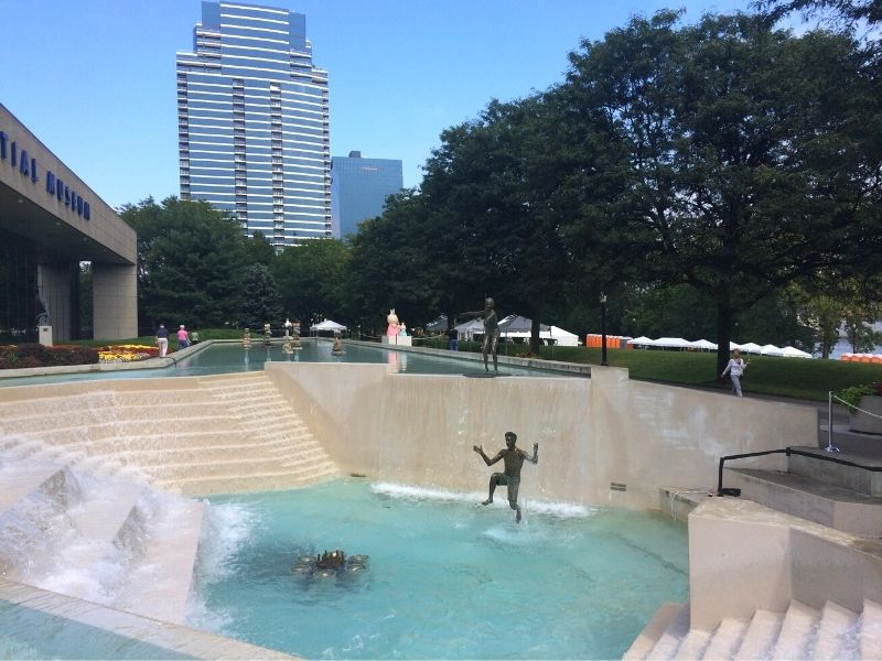 Gerald R Ford Museum Reflecting Pool and Fountain