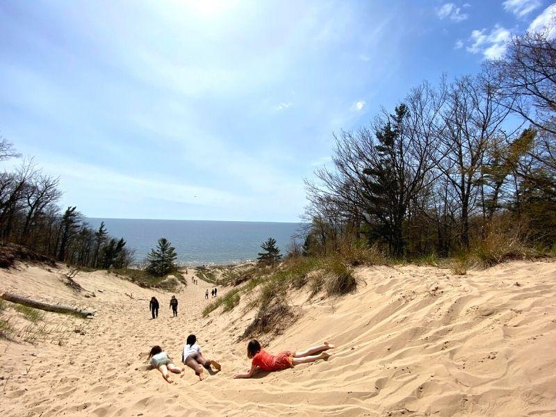 PJ Hoffmaster State Park Sand Dunes by Lake Michigan