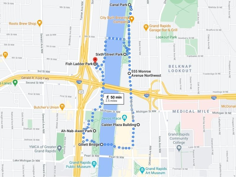 free downtown grand rapids discovery walk