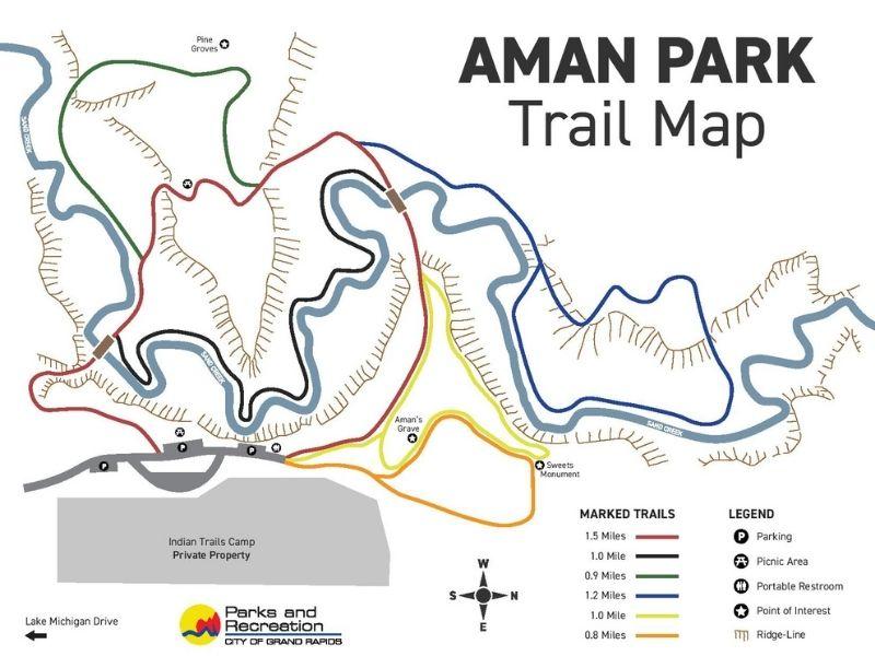 aman park trail map