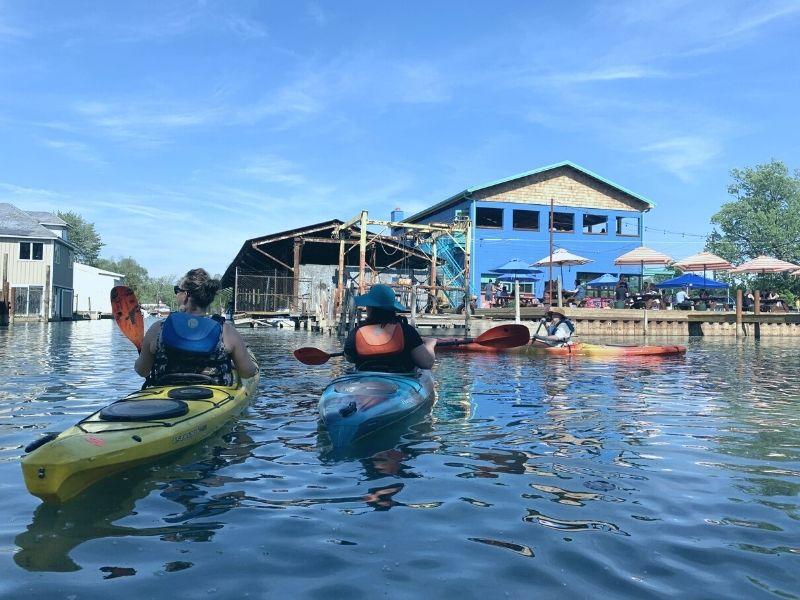 detroit canal kayaking