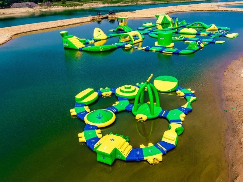 lake arvesta water obstacle courses