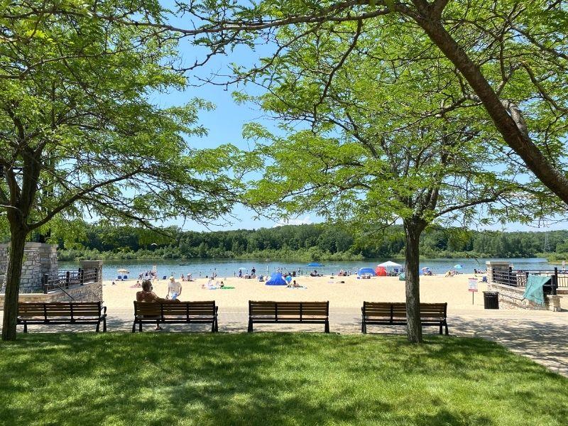 millennium park beach area