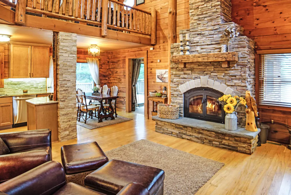 Torch Lake Cabin in the woods